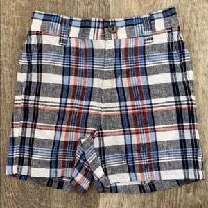 Janie & Jack Plaid toddler boys Shorts 12-18M